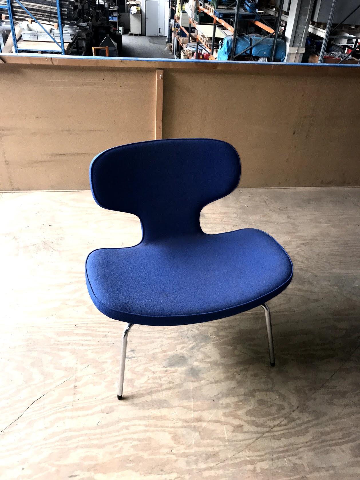 Moderne stoel blauw